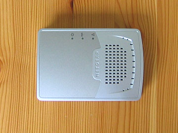 netgear WGR-101 wireless travel router 802.11g review top view