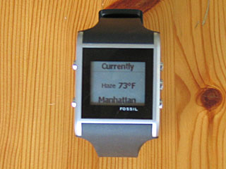 Fossil SPOT Smart Watch Weather Face