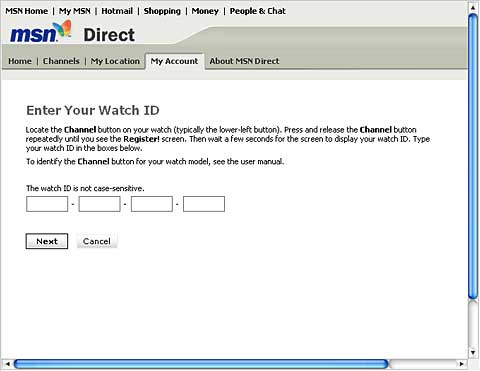 MSN Direct Activation